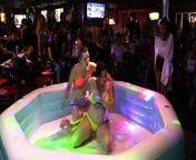 NIP SLIP! Hot Girl On Girl Oil Wrestling from young nip