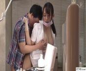 Japanese dentist risky sex at work with Nao Kiritani from jav pmv big tits