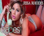 Babes- Big tit Phone Sex operator Jessa Rhodes rides bbc in pink stocking from oper