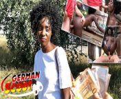GERMAN SCOUT - BLACK EBONY MILF ZAAWAADI | REAL PUBLIC PICKUP SEX | HAIRY PUSSY ROUGH from africkan